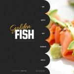 Шаблон Golden Fish для ресторана морепродуктов №143