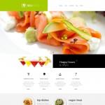 Шаблон Seafood для ресторана морепродуктов №144