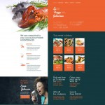 Шаблон для ресторана морепродуктов №