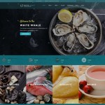 Шаблон White Whale для ресторана морепродуктов #153