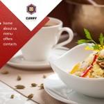 Шаблон Curry для индийского ресторана №157