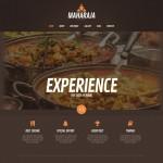 Шаблон Maharaja для индийского ресторана №158