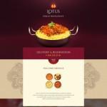 Шаблон Lotus для индийского ресторана №161