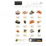 Шаблон Cuisine для японского ресторана №165