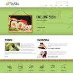 Шаблон Sushi для суши-бара №173