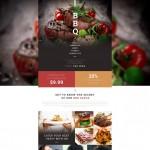 Шаблон BBQ для барбекю ресторана №192