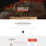 Шаблон Grille для барбекю ресторана №193