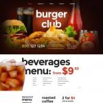 Шаблон Burger Club для ресторана фаст-фуда №224