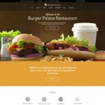 Шаблон Burger Palace для ресторана фаст-фуда №227