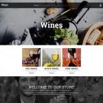 Шаблон Wines для винного ресторана #286