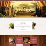 Шаблон Wine Store Gold для винного ресторана #291