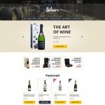 Шаблон Wines Gray для винного ресторана #292