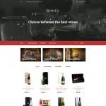 Шаблон Wines Grey для винного ресторана #293