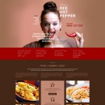 Шаблон Red Hot Pepper для мексиканского ресторана №308