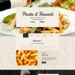 Шаблон Pasta Ravioli для итальянского ресторана #369