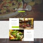 Шаблон Bellissimo для итальянского ресторана #375