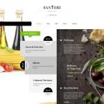 Шаблон Santori для итальянского ресторана #379