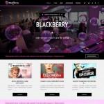 Шаблон для кафе «BlackBerry»