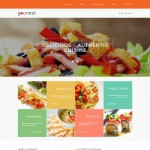Шаблон Gourmet Orange для европейского ресторана #430