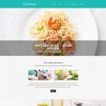 Шаблон Gourmet Turquoise для европейского ресторана #436