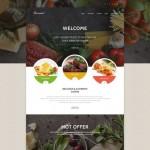 Шаблон Gourmet Grey для европейского ресторана #437