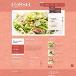 Шаблон Rosso для европейского ресторана #455