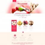 Шаблон Ice Cream для кафе мороженого №638