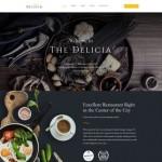 Шаблон Delicia для кафе №644