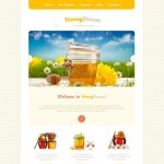 Шаблон Honey House для медового магазина #501