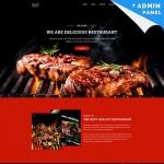 Шаблон Steakon для барбекю ресторана #747