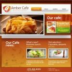 Шаблон Amber Cafe для кондитерского кафе №646