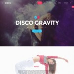 Шаблон Disco Gravity для ночного клуба #518
