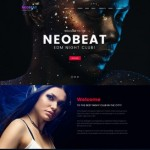 Шаблон Neobeat для ночного клуба #525