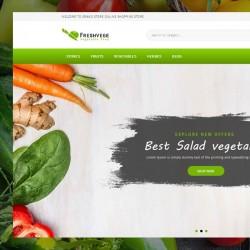 Шаблон Freshvege для вегетарианского ресторана #758