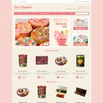 Шаблон Best Sweets для кондитерского кафе №689