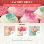 Шаблон Sweet Shop для кондитерского кафе №692