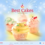 Шаблон Best Cakes для кондитерского кафе №695