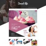 Шаблон Sweet Life для кондитерского кафе №697