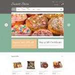 Шаблон Sweets Store для кондитерского кафе №702
