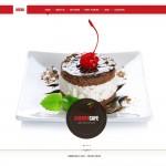 Шаблон Cherry Cafe для кондитерского кафе №44