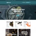 Шаблон Seafood Turquoise для ресторана морепродуктов #727