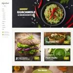Шаблон Vegan Food для вегетарианского ресторана #733
