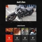 Шаблон Jack's Den | bikers' cafe для кафе №116
