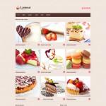 Шаблон Lamour для кондитерского кафе №122