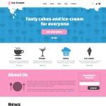 Шаблон Ice-Cream для кафе мороженного №123