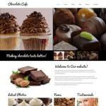 Шаблон Chocolate Cafe для кондитерского кафе №125