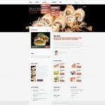 Шаблон Delicious Sushi для ресторана морепродуктов №137