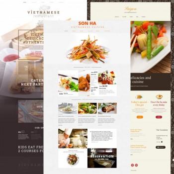 Добавление шаблонов для вьетнамского ресторана