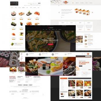 Добавление шаблонов для японского ресторана